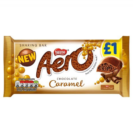 Aero Caramel Chocolate Sharing Bar 100g (UK)